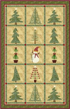A beautiful winter quilt Christmas Tree Quilt, Christmas Wall Hangings, Christmas Applique, Christmas Sewing, Noel Christmas, Christmas Projects, Christmas Quilting, Quilting Projects, Quilting Designs
