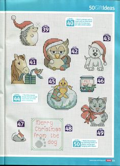 Christmas animals cross stitch