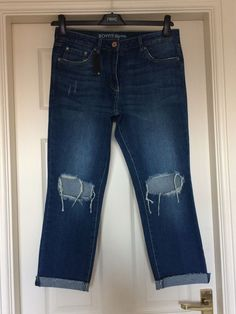 17c932254c1 Bnwt next 14 r boy fit ripped blue high rise jeans new boyfriend new with  tags