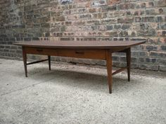 Mid Century Chicago: Lane Danish Modern Style Coffee Table w/ Drawer
