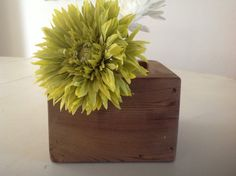 Recycled wood flower or plant box by Carmelwoodsproducts on Etsy, $25.00