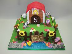 I adore this farmyard cake from Need a Cake