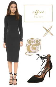What to wear to an office holiday party from the Fashionable Hostess   View entire slideshow: What to Wear to Every Holiday Party on http://www.stylemepretty.com/collection/3801/