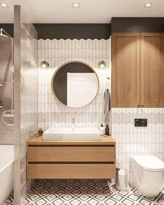 Small Bathroom Trends 2021: Best 10 Tendencies and Ideas to Use Interior Design Living Room Warm, Bathroom Interior Design, Interior Exterior, Bad Inspiration, Decoration Inspiration, Bathroom Inspiration, Best Bathroom Designs, Bathroom Trends, Bathroom Ideas