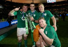 Peter O'Mahony, Conor Murray, Ian Madigan and Jamie Heaslip celebrate — at Stade… Irish Rugby, Rugby Men, Oh My Love, Rugby Players, Man Images, My Passion, Good People, Hero, Man Candy