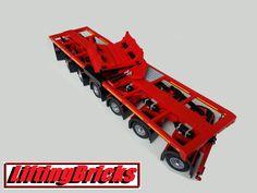 Nooteboom boom trailer for the Liebherr LTM Toys For Boys, Boy Toys, Lego Truck, Lego Ship, Lego Vehicles, Cool Lego Creations, Rc Trucks, Lego Technic, Miniture Things