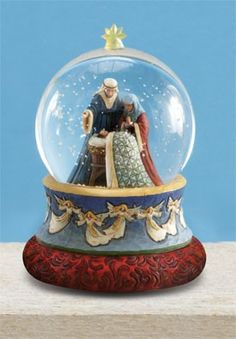 "Jim Shore Heartwood Creek Holy Family Musical Waterball, Item dimensions: width: height: Wind-up musical plays ""O, Holy Night""."