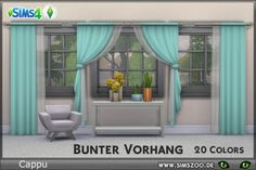 Blackys Sims 4 Zoo: Colorful curtain set by Cappu • Sims 4 Downloads