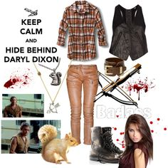 Keep calm and hide behind Daryl Dixon, created by porcelainsilver.polyvore.com