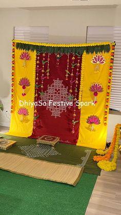 Housewarming Decorations, Diy Diwali Decorations, Diy Wedding Decorations, Festival Decorations, Floral Backdrop, Diy Backdrop, Backdrop Decorations, Flower Decorations, Backdrops