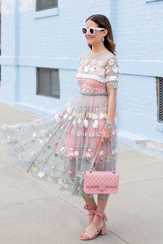 ASOS Embellished Mesh Dress