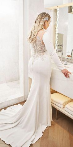 15ac5c7599f Justin Alexander Wedding Dresses 2018 Iskra For Plus Size ❤ justin  alexander wedding dresses 2018 iskra with long sleeves beaded illusion back  buttons ...