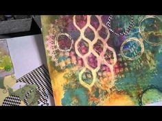 Working with Layers Over a Spray Ink Art Journal Background