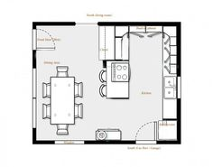 Kitchen Floor Plan Enchanting Great Kitchen Floor Plan Home  Kitchen & Pantry  Pinterest . Design Ideas
