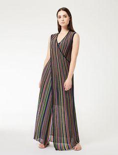 Vestido largo de lamé
