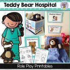 Teddy Bear Hospital dramatic play printables ~ Fairy Poppins