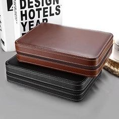 Leder Uhren Etui ( 8 Slots) – Omeo Store Leather Watch Box, Pu Leather, Watch Organizer, Watch Display Case, Zipper Bags, Jewellery Storage, Leather Craft, Storage Organization, Black And Brown