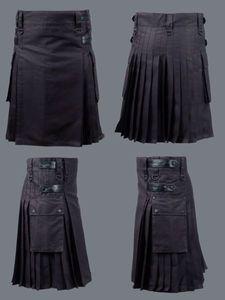 AJ Black Deluxe Utility Modern Kilt with Leather Straps | eBay