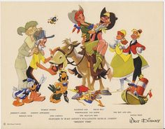 Promotional image for the 1948 Disney feature, Melody Time. A great drawing, I could look at it all day. Retro Disney, Vintage Disney, Disney Love, Disney Magic, Disney Pixar, Disney Couples, Disney Style, Walt Disney Animation Studios, Disney Package