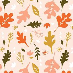 Autumn foliage pattern