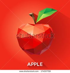 http://image.shutterstock.com/display_pic_with_logo/468649/174557708/stock-vector-vector-illustration-of-an-apple-rendered-in-a-geometric-style-174557708.jpg
