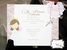 Moms-Angels: Invitaciones y decoraciones Primera Comunion para niña