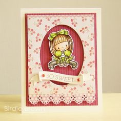 So Sweet by Torico - Cards and Paper Crafts at Splitcoaststampers Digital Stamps, Cute Cards, Clear Stamps, I Card, Banner, Paper Crafts, Homemade, My Favorite Things, Brown
