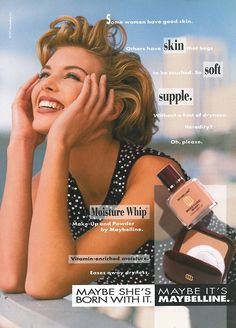Maybelline, 1992Model: Tanya Fourie