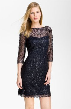 Kay Unger Sequin Lace Sheath Dress available at #Nordstrom