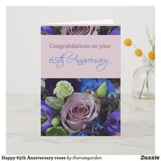 Shop Happy Anniversary roses Card created by therosegarden. Happy Anniversary Wedding, 65th Anniversary, Online Greeting Cards, Custom Greeting Cards, Sheep Cards, Celebrity Weddings, Thoughtful Gifts, Congratulations, Christmas Gifts