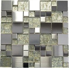 Stainless Steel + Golden Glass Mix Mosaic - Midas - 12x12... https://www.amazon.com/dp/B00NUDQ4E0/ref=cm_sw_r_pi_dp_x_l4.3xbZBEZWTF