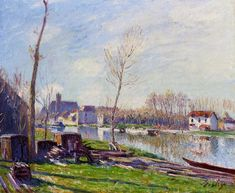 Construction Site at Matrat Moret-sur-Loing  1888 Paintings | Alfred Sisley paintings