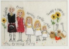 Wedding thank you gift family tree picture by red cat handmade