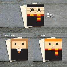 Cute x men valentines day cards set of 8 by twofishproject card harry potter greeting cards birthday cards set of 3 harry potter hermione granger ron weasley blank greeting card set handmade bookmarktalkfo Image collections