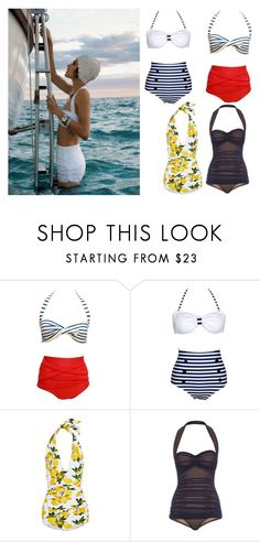 """""""50"""" Summer Style"""" by sunshine24-7-1 ❤ liked on Polyvore featuring Poesia, Dolce&Gabbana and Norma Kamali"""