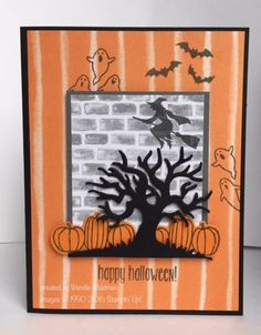 Happy Halloween FMS253 by tankergypsie - Cards and Paper Crafts at… SCS - SU - Spooky Fun & Halloween Scenes Edgelits bundle by Wendie Waldman