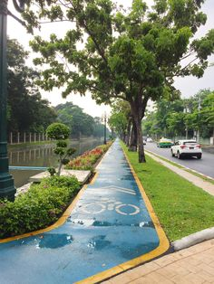 Chitralada Royal Villa Urban Park, Thailand, Sidewalk, Villa, Landscape, Scenery, Side Walkway, Walkway, Fork
