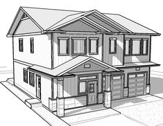 drawing simple draw pencil sketch dream haus easy 3d building drawings beginners living decoration