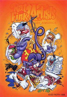 rat fink ed big daddy roth rat fink artists Rat Fink, Ed Roth Art, Garage Art, Lowbrow Art, Arts Ed, Car Drawings, Bike Art, Big Daddy, Monster Art