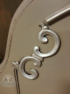 Highlight in Furniture Details with Royal Stencil Creme in Smoked Oyster | A to Z Creations