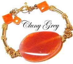 fire agate jewelry - http://www.clunygreyjewelry.com/fire-agate-jewelry.html