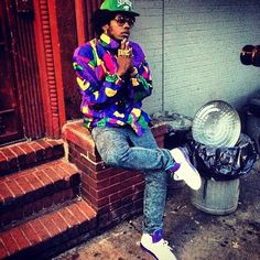 Trinidad James Rocking Air Jordan Grape V Sneakers Hip Hop Fashion, Dope Fashion, Urban Fashion, Sneakers Fashion, Mens Fashion, Fashion Killa, Fasion, High Fashion, Fashion Trends