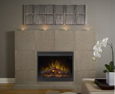 "Prism Linear 26"" Electric Firebox in livingroom"