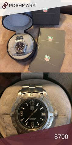 TAG HEUER men's sport watch Timeless TAG HEUER stainless steel watch ⌚️ water resistant, double security clasp. Tag Heuer Accessories Watches