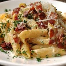 Bacon and Parmesan Penne Pasta Recipe