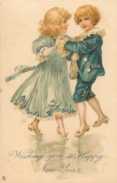 New Years Dancing Couple