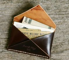 Barrett Alley Leather Disciple Wallet | Via: Cool Material
