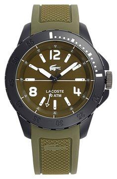 Lacoste 'Fiji' Silicone Strap Watch, 46mm