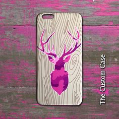 Pink Camo Deer On Wood Iphone Case, Deer Trophy Head Case, Country Girl Iphone…