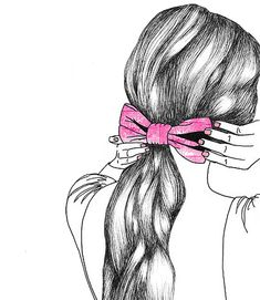 Actually I love to draw girls hair. I and another that is similar to the first half hope you like it.